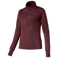 Puma Womens Ignite 1/4 Zip Top - Maroon