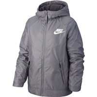 Nike Boys Full Zip Fleece Lined Jacket - Grey