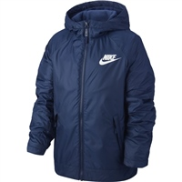 Nike Boys Full Zip Fleece Lined Jacket - Navy