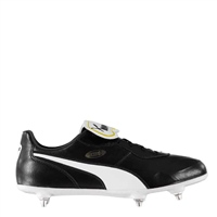 Puma King Top Soft Ground SG Boots - Black/White