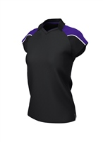 Chadwick IGEN FEMALE POLO - BLACK/PURPLE