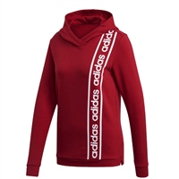 Adidas Womens C90 Overhead Hoodie - Red/White