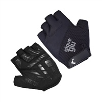 Glove Glu Gel Ride Half Finger Cycling Gloves - Black