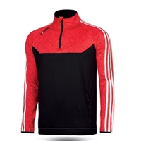 ONeills Kasey Brushed Half Zip Top - Adult - Black/Mel Red/White