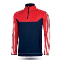ONeills Kasey Brushed Half Zip Top - Adult - Marine/Mel Red/White