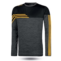 ONeills Nevis Brushed Crew Neck Top  Mel Black/Amber/Black