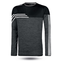 ONeills Nevis Brushed Crew Neck Top  Mel Black/White/GunMetal