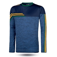 ONeills Nevis Brushed Crew Neck Top  Mel Marine/Amber/Bottle
