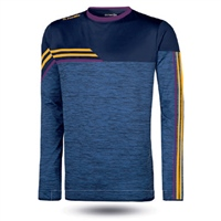 ONeills Nevis Brushed Crew Neck Top  Mel Marine/Amber/Purple