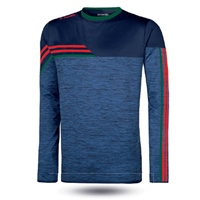 ONeills Nevis Brushed Crew Neck Top  Mel Marine/Red/Bottle