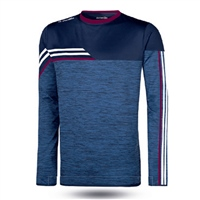 ONeills Nevis Brushed Crew Neck Top  Mel Marine/White/Maroon