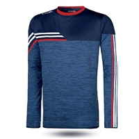 ONeills Nevis Brushed Crew Neck Top  Mel Marine/White/Red