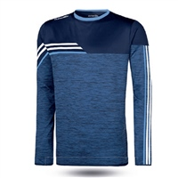 ONeills Nevis Brushed Crew Neck Top  Mel Marine/White/Sky