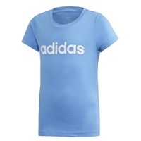 Adidas Girls Essential Linear Tee - Blue/White