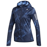Adidas Womens On The Run Graphic Jacket - Blue