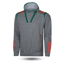 ONeills Solar Fleece Overhead Hoodie - Adult - Marl Grey/Bottle/Red