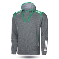 ONeills Solar Fleece Overhead Hoodie - Adult - Marl Grey/Emerald/White