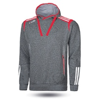 ONeills Solar Fleece Overhead Hoodie - Adult - Marl Grey/Red/White
