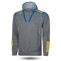 ONeills Solar Fleece Overhead Hoodie - Adult - Marl Grey/Royal/Amber