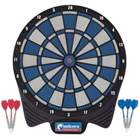 Unicorn Soft Tip Dartboard with Darts - Blue/White