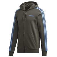 Adidas Mens Ess 3S FZ Hooded Track Top - Grey/Sky