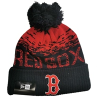 New Era Boston Red Sox Official Bobble Hat - Black/Red