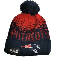 New Era N.England Patriots Official Bobble Hat - Navy/Red