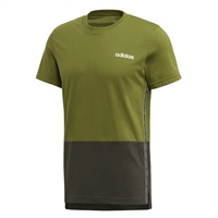 Adidas Mens C90 Colour Block Tee - Green/Grey