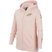 Nike Girls Air Full Zip Fleece Hoodie - Pink