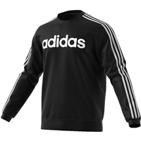 Adidas Mens Ess. 3S Crew Fleece Sweat - Black/White