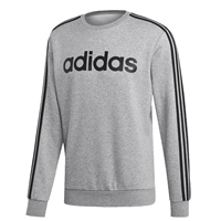 Adidas Mens Ess. 3S Crew Fleece Sweat - Grey/Black