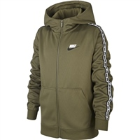 Nike Kids NSW Repeat FZ Poly Hoodie - Olive
