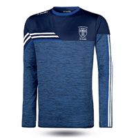 Naomh Conaill Nevis Brushed Crew Neck Top  Mel Marine/White/Royal