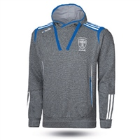 Naomh Conaill Solar Fleece Overhead Hoodie - Adult - Marl Grey/Royal/White