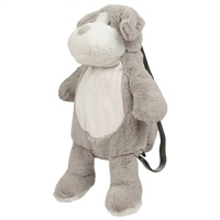 Mumbles Personalised Zippie Dog Back Pack - Grey
