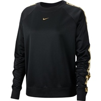 Nike Womens NSW Crew Logo Tape Sweat - Black/Gold