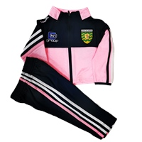 ONeills Donegal Nevis Infant Tracksuit - Pink/Navy/White