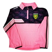 ONeills Donegal Nevis Ladies Brushed HZ Top - Pink/Navy/White