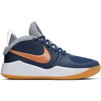 Nike Kids Team Hustle D9 Basketball Boots GS - Navy/Copper