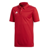 Adidas CORE 18 POLO-YOUTH - Red/White