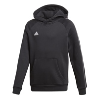 Adidas CORE 18 HOODY-YOUTH - Black/White