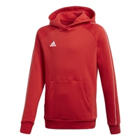 Adidas CORE 18 HOODY-YOUTH - Red/White
