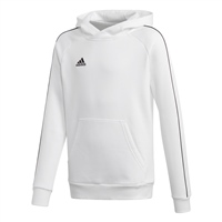 Adidas CORE 18 HOODY-YOUTH - White