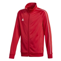 Adidas CORE 18 POLY JACKET-YOUTH - Red/White