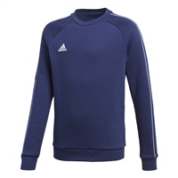 Adidas CORE 18 SWEAT TOP-YOUTH - Dark Blue/White