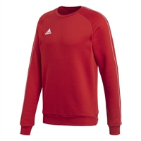 Adidas CORE 18 SWEAT TOP-YOUTH - Red/White