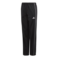 Adidas CORE 18 POLY PANTS-YOUTH - Black/White