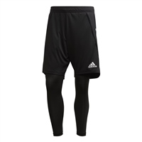Adidas (Teamwear) CONDIVO 20 2IN1 SHORTS - Black/White