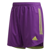 Adidas CONDIVO 20 SHORTS - Purple/Solar Green