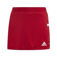 Adidas (Teamwear) T19 SKORT - GIRLS - Red/White